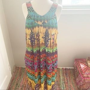 New Directions Colorful Ethnic Summer Dress